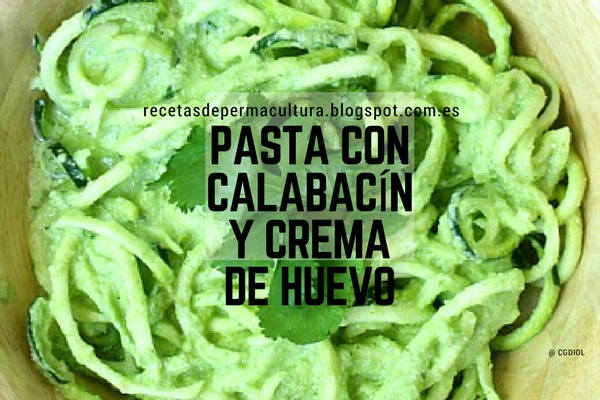 Receta de Pasta con Calabacín y Crema Huevo con Queso