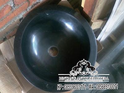 Wastafel Marmer Hitam, Wastafel Marmer Bulat, Wastafel Batu Alam Bandung