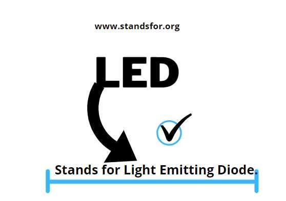 LED-Stands for Light Emitting Diode.