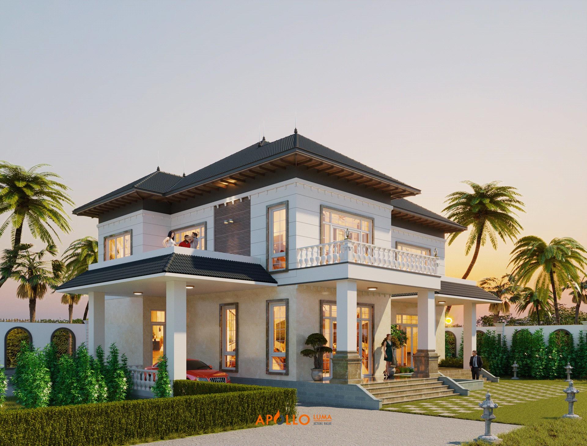 Thiết kế biệt thự nhà vườn tại Bắc Giang sang trọng