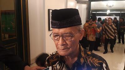 Respons Buya Syafii Jika Ahok Jadi Bos BUMN