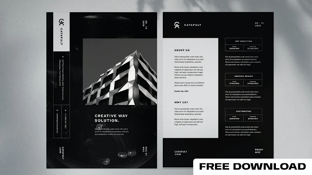 Minimal Corporate flyer free download
