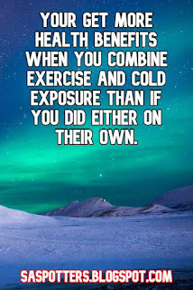 Your get more health benefits when you combine exercise and cold exposure than if you did either on their own.