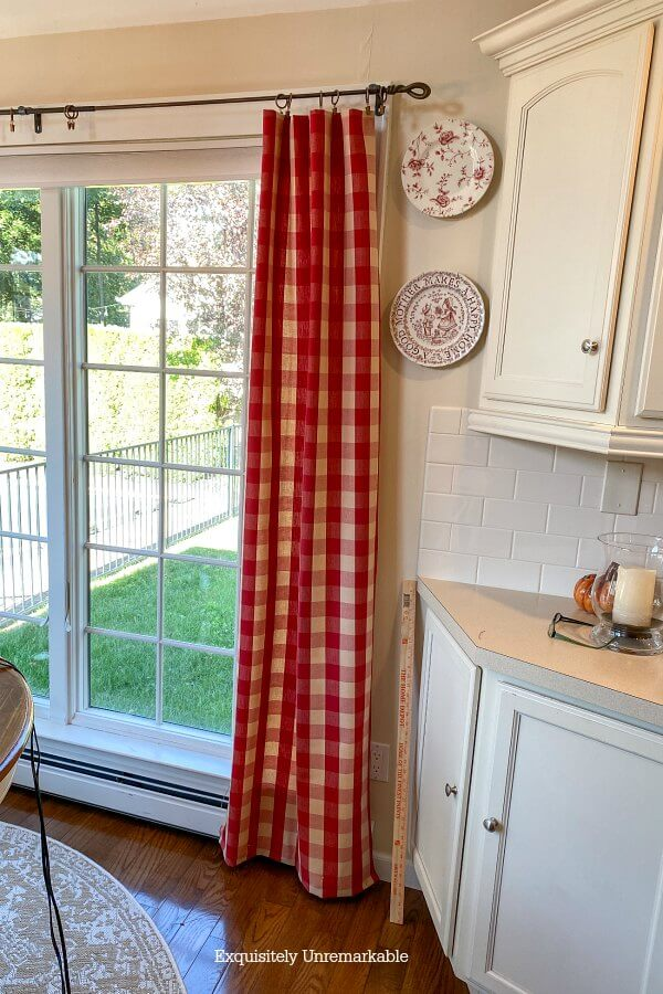 Pinning Long Panel Curtains