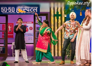 "Super Singh Star Cast on TKSS: Punjabi Super Star Diljit Dosanjh is shooting for The Kapil Sharma Show a comedy based show. He will seen prompting his upcoming movie ""Super Singh""  in TKSS this weekend with Sonam Bajwa(Playing lead role in the movie)."