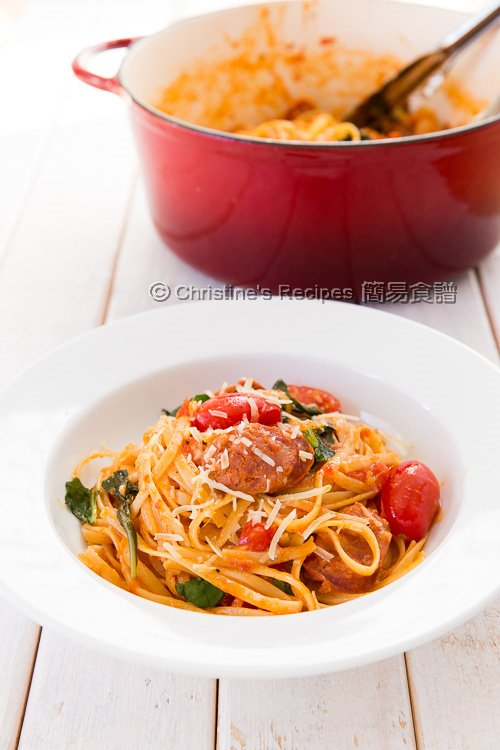 One Pot Pasta with Tomato, Basil and Chorizo01