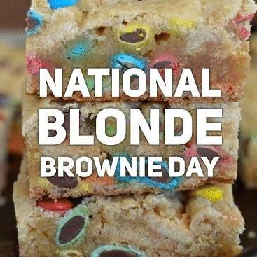 National Blonde Brownie Day Wishes for Whatsapp
