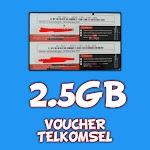 VOUCHER TELKOMSEL 2,5GB SULSEL