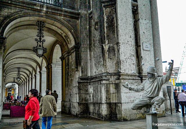 Artista de rua na Baixa de Lisboa