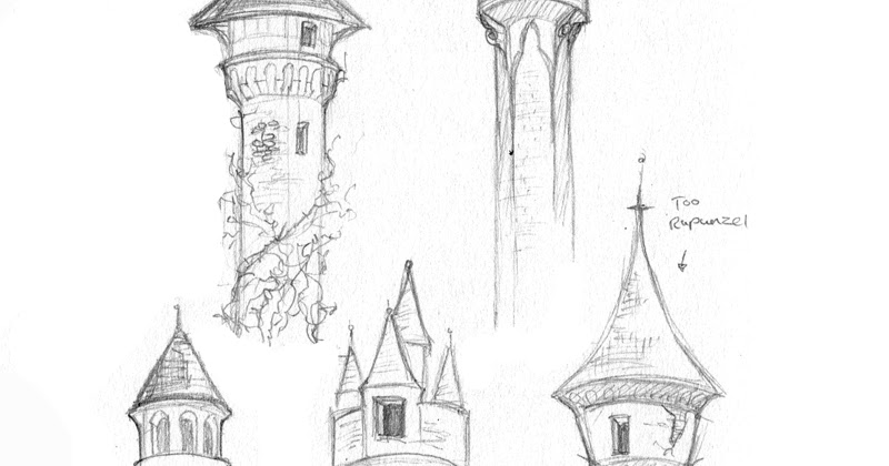 Amy Holliday Illustration : Sleeping Beauty's Tower Concepts