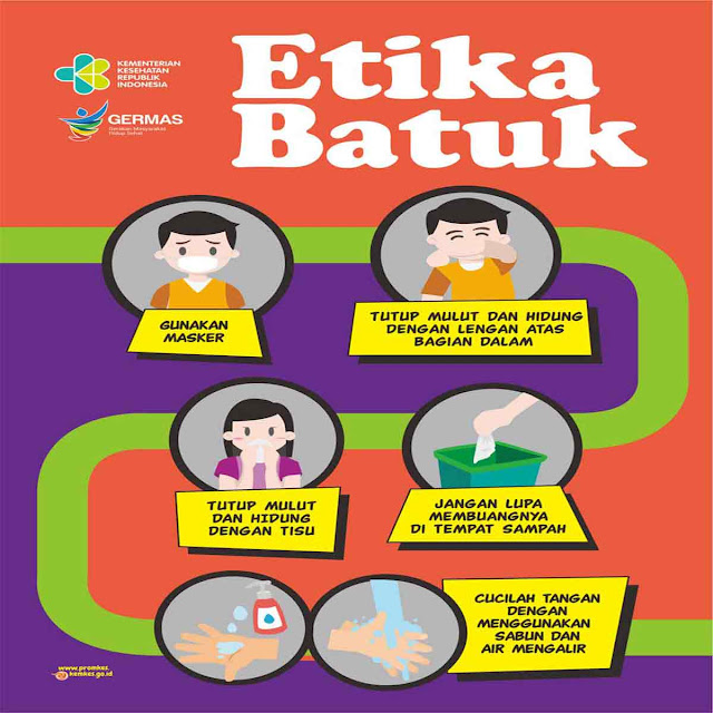 Poster Etika Batuk dan bersin oleh kemenkes