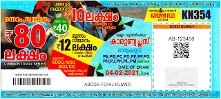 Kerala Lottery Results: 04-02-2021 Karunya Plus KN-354 Lottery Result