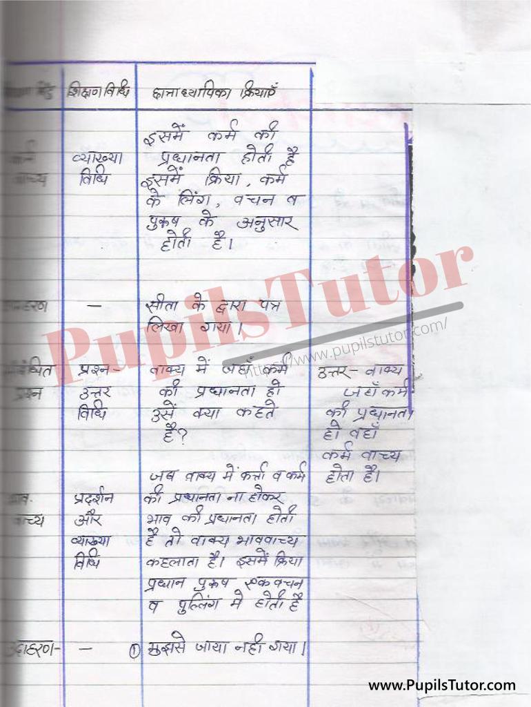 हिंदी व्याकरण पाठ योजना   Hindi Vyakaran lesson Plan