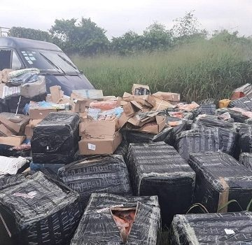 More Photos As Customs Intercepts South African Airways With ₦68.9m Chicken, Pork In Lagos