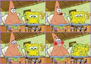 meme spongebob ngetawain sesuatu bareng