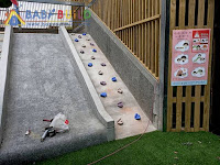 磨石子滑梯缺失改善