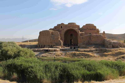 Qal'eh Dokhtar is a castle in Firuzabad dating back to the Sassanid period. This castle is located at a point where the slope of land, created a natural gateway.  The location of this palace over the plain has provided the possibility of monitoring on the valley's path which leads to Firuzabad.