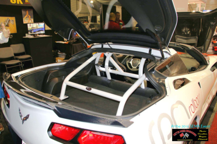 RPM ROLLBARS displayed a very nice four-point cage that is custom designed to the C7.