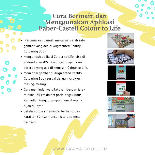 cara bermain dan menggunakan aplikasi faber-castell colour to life