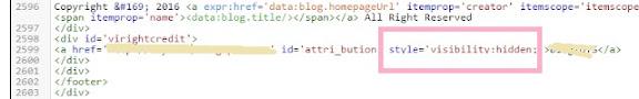 Menghilangkan Credit Link Redirect pada Template Blogger 1