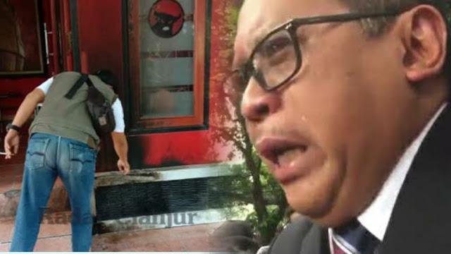 Kantor DPC Diserang Molotov  Lagi, Hasto Duga karena PDIP Paling Memperjuangkan Pancasila