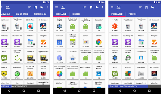 Screenshot AppMgr Pro III v4.77b5 Premium