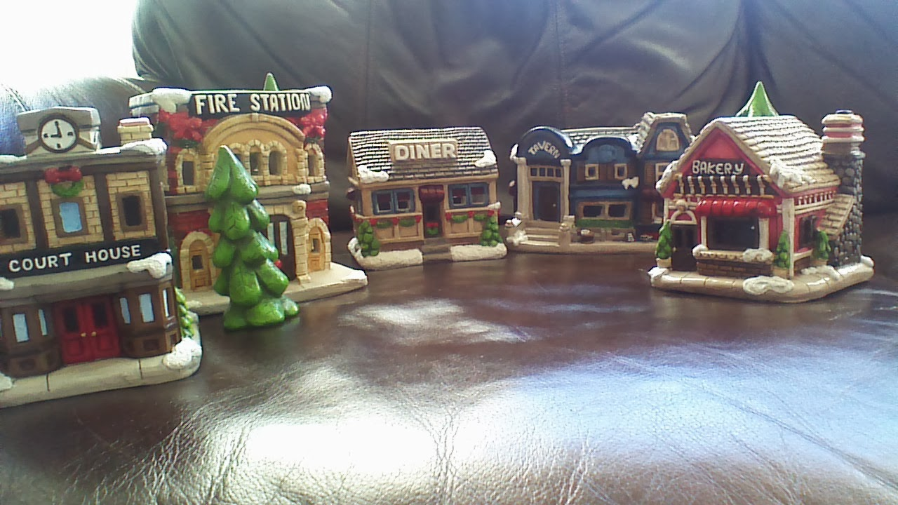 Unpainted Christmas Village