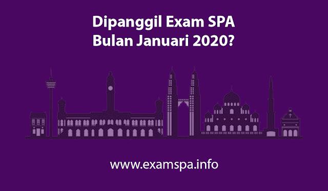 Rujukan Exam SPA Januari 2020