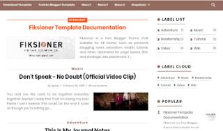 Fiksioner Template Blogger Gratis