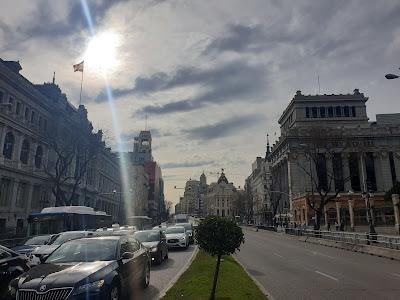 El centro de Madrid en los primeros días del coronavirus