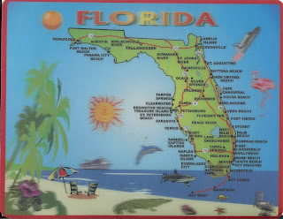 FLORIDA MAP MOUSE PAD