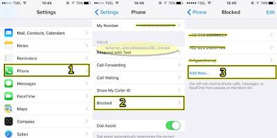 Cara Blokir Kontak Telepon di iPhone