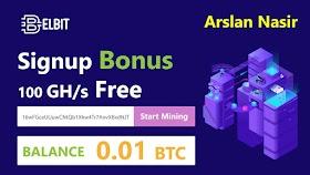 Elbit.io New Free Bitcoin Cloud Mining Site 2020 | Free Signup Bonus Earn Daily 0.01 Btc Zero Invest