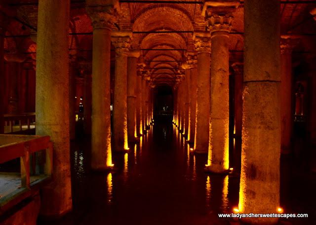 Basilica Cistern reservoir beneath Stoa Basilica