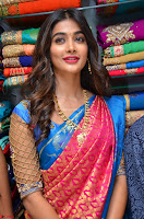 Puja Hegde looks stunning in Red saree at launch of Anutex shopping mall ~ Celebrities Galleries 066.JPG