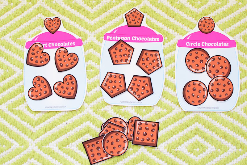 Valentine's Day Themed Unit: Chocolate Shapes Sorting Activity