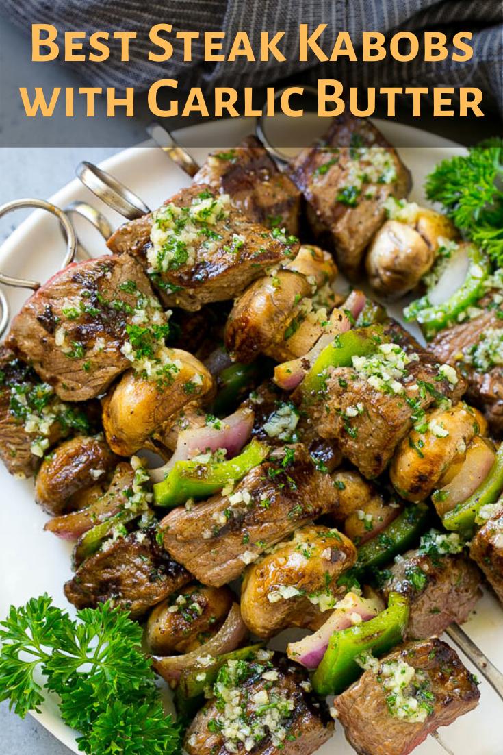 Best Steak Kabobs with Garlic Butter