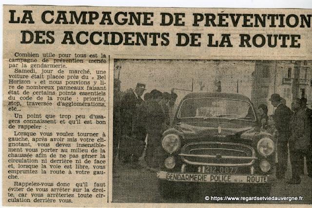 gendarmerie de Riom 1962