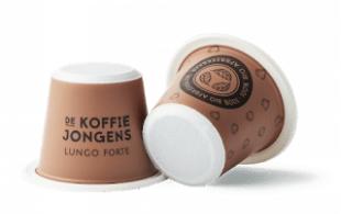 Biologisch afbreekbare koffiecups
