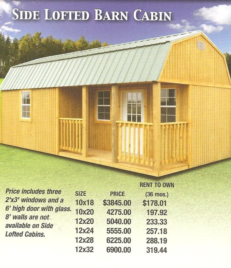 Derksen Cabin Prices