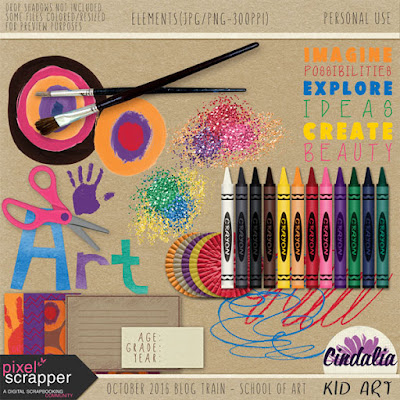 Pixel Scrapper blog train, Digital, Photoshop, Scrapbooking, October, 2016, freebie