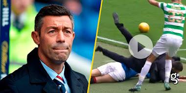VIDEO: ¡De tarjeta roja! Derriban a Caixinha con tremendo choque en el Derby Escocés