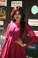Monal Gajjar in Maroon Gown Stunning Cute Beauty at IIFA Utsavam Awards 2017i 009.JPG