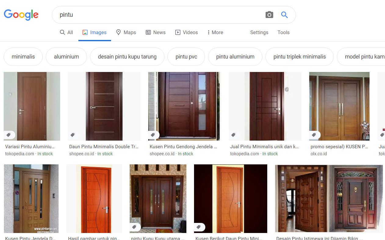 pintu in google search