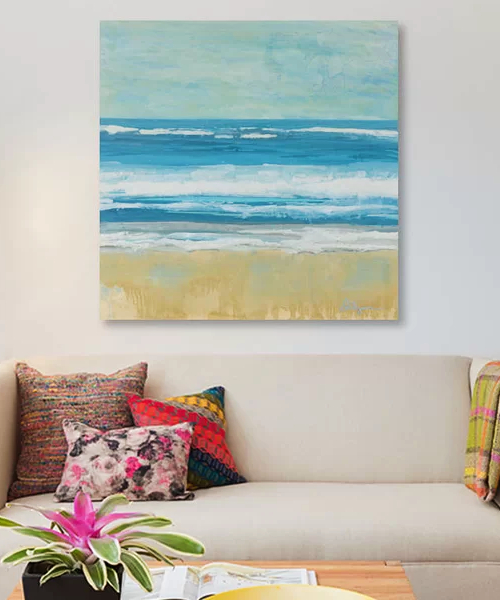Ocean Beach Painting Canvas Print