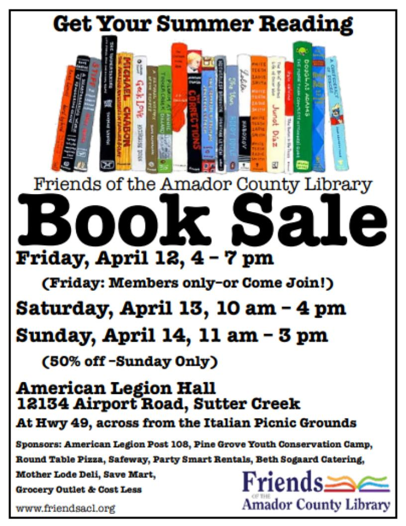 FACL Spring Book Sale - April 12, 13 & 14