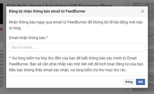 blogger email feedburner