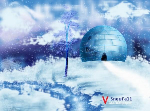 Photoshop Background Tutorials Atlantic Snowfall Background