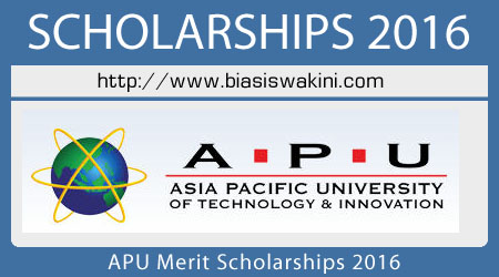 APU Merit Scholarships 2016 For Malaysian Students