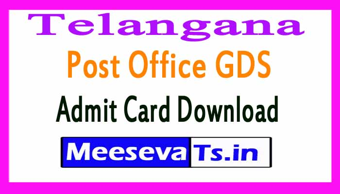 Telangana Post Office GDS Admit Card Download